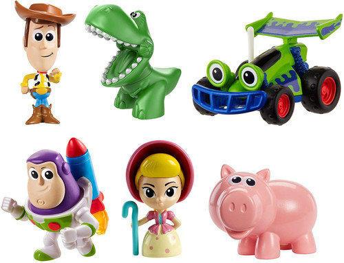Disney / Pixar Toy Story 4 MINIS Andy's Toy Chest Mini Figure 6-Pack [Woody, Buzz Lightyear, Rex, Bo Peep, Hamm & RC]