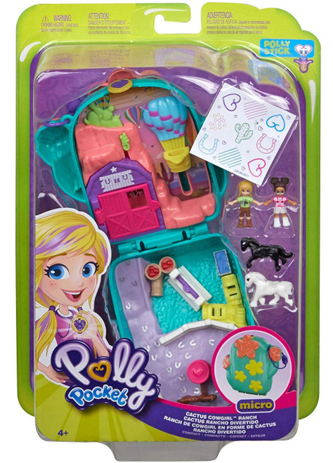 Polly Pocket Micro Cactus Cowgirl Ranch Playset