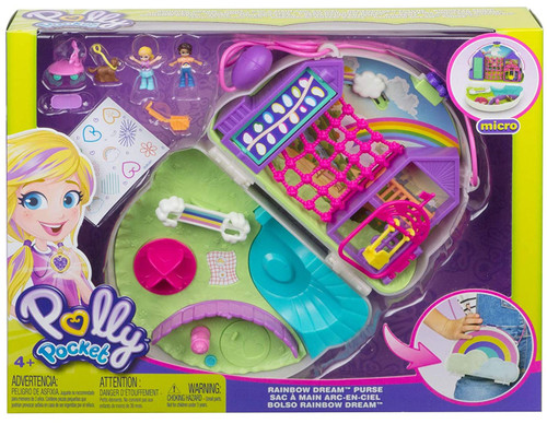 Polly Pocket Micro Rainbow Dream Purse Playset