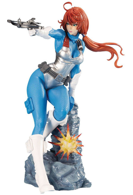 GI Joe Bishoujo Scarlett Statue [Sky Blue]