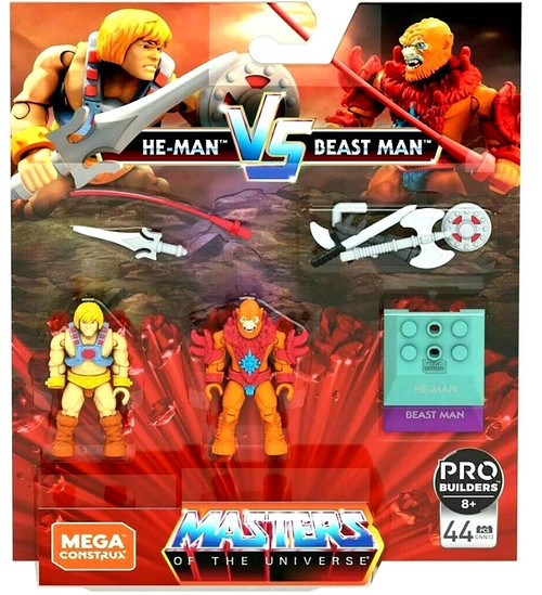 Mega Construx Masters of the Universe Heroes He-Man vs. Beast Man Mini Figure