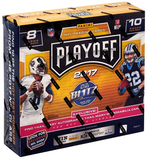 NFL Panini 2017 Playoff Football Trading Card MEGA Box [10 Packs, 1 Hail Mary Autograph & 1 Hail Mary Memorabilia Card!]