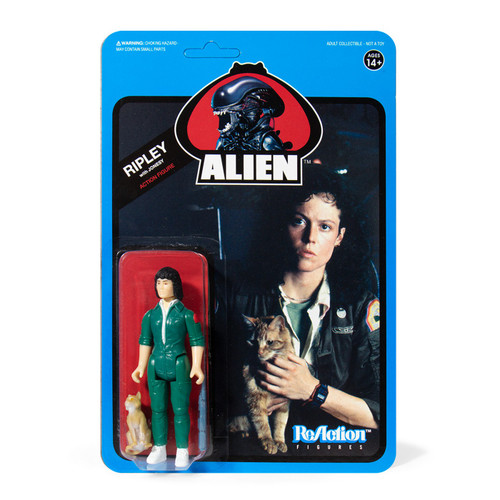 ReAction Aliens Ripley with Jonesy Action Figure [Blue Card]