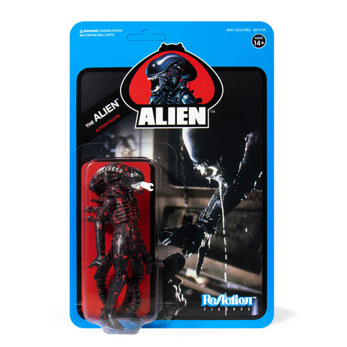 ReAction Aliens Bloody Alien Open Mouth Action Figure [Blue Card]