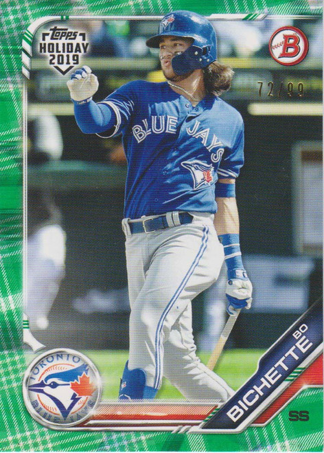 MLB Topps 2019 Holiday Bo Bichette Single Sports Card TH-BB [Green Sweater 72/99]