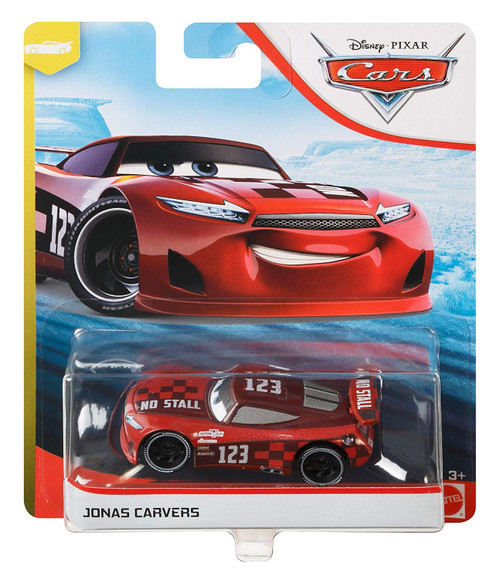 "Disney / Pixar Cars Cars 3 ""Next-Gen"" Piston Cup Racers Jonas Carvers Diecast Car"