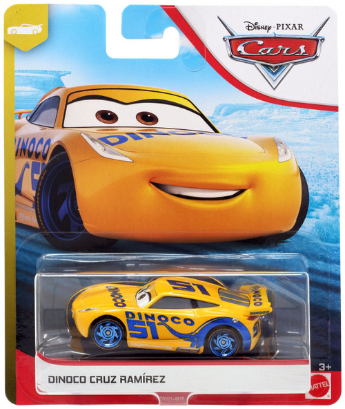 "Disney / Pixar Cars Cars 3 ""Next-Gen"" Piston Cup Racers Dinoco Cruz Ramirez Diecast Car"