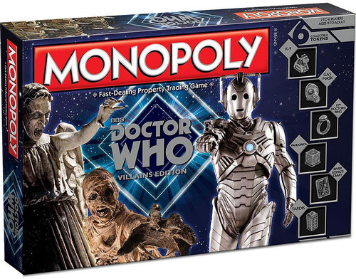 Monopoly Doctor Who Board Game [Villains Edition]