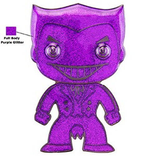Funko DC Classic POP! Pins Joker Large Enamel Pin [Chase Version, Glitter]