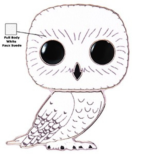 Funko Harry Potter POP! Pins Hedwig Large Enamel Pin [Chase Version, Full Body Suede Suit]