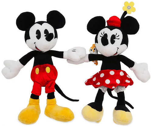 Disney Runaway Railway Mickey & Minnie Exclusive 9-Inch Magnetic Plush Set