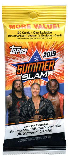 WWE Wrestling Topps 2019 SummerSlam Trading Card VALUE Pack [20 Cards, 1 Women's Evolution Card!]