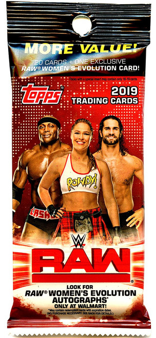 WWE Wrestling Topps 2019 RAW Trading Card VALUE Pack [20 Cards!]