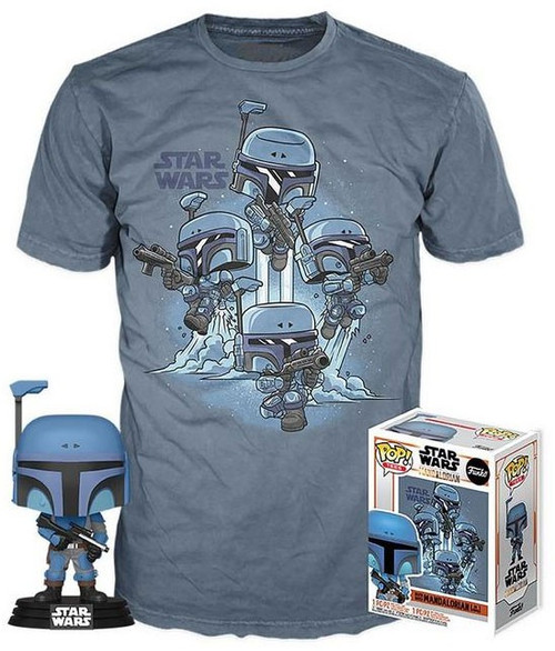 Funko The Mandalorian POP! Star Wars Death Watch No Stripes Exclusive Vinyl Figure & T-Shirt [Large]