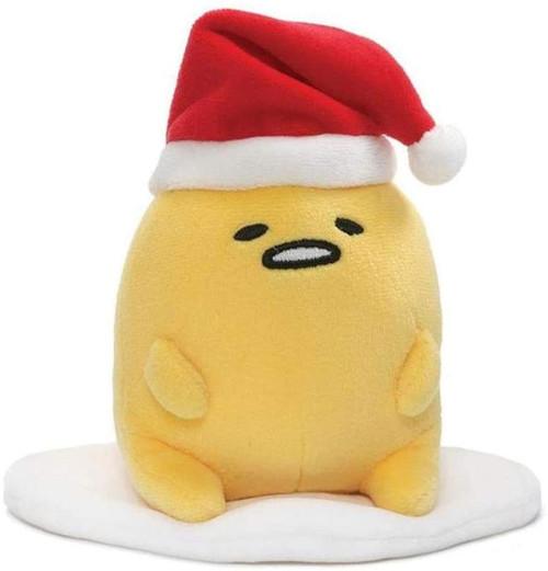 Sanrio Gudetama the Lazy Egg 5-Inch Plush [Santa Hat]