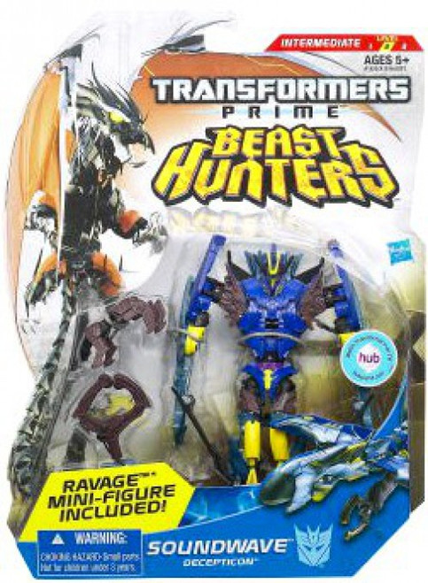 Transformers Prime Beast Hunters Soundwave Deluxe Action Figure [Damaged Package]