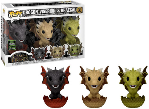 Funko Game of Thrones POP! TV Drogon, Viserion, & Rhaegal Exclusive Vinyl Figure 3-Pack