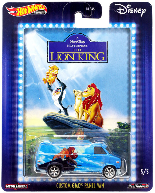 Disney Hot Wheels Premium Custom GMC Panel Van Die Cast Car #5/5 [The Lion King]