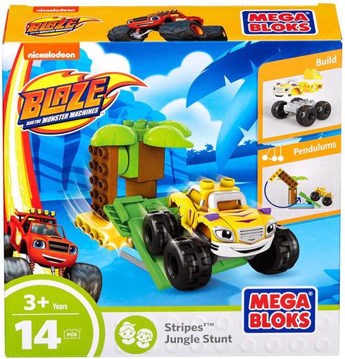 Mega Bloks Blaze & the Monster Machines Stripes Jungle Stunt Set DXF23