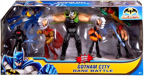 Batman Unlimited Gotham City Bane Batte Action Figure 7-Pack [Damaged Package]