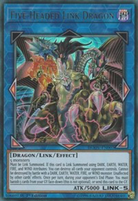 YuGiOh Duel Overload Ultra Rare Five-Headed Link Dragon DUOV-EN007