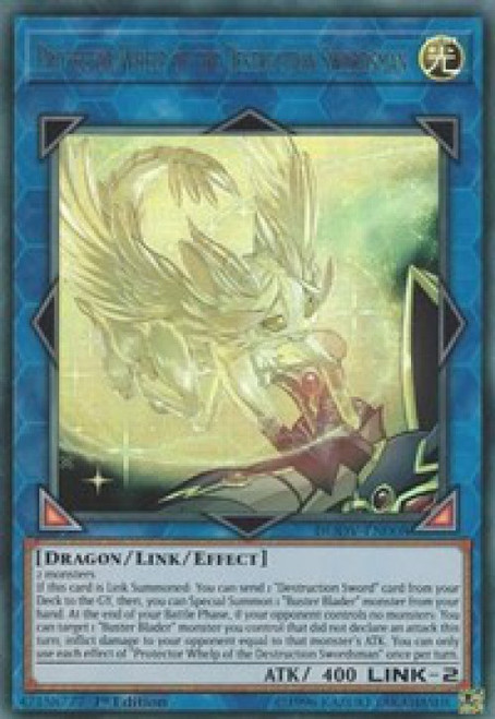 YuGiOh Duel Overload Ultra Rare Protector Whelp of the Destruction Swordsman DUOV-EN008