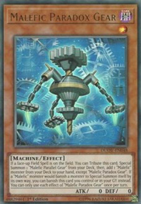YuGiOh Duel Overload Ultra Rare Malefic Paradox Gear DUOV-EN048