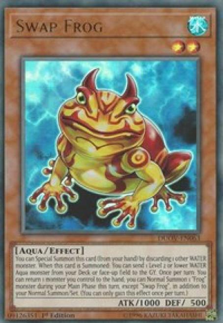 YuGiOh Duel Overload Ultra Rare Swap Frog DUOV-EN063
