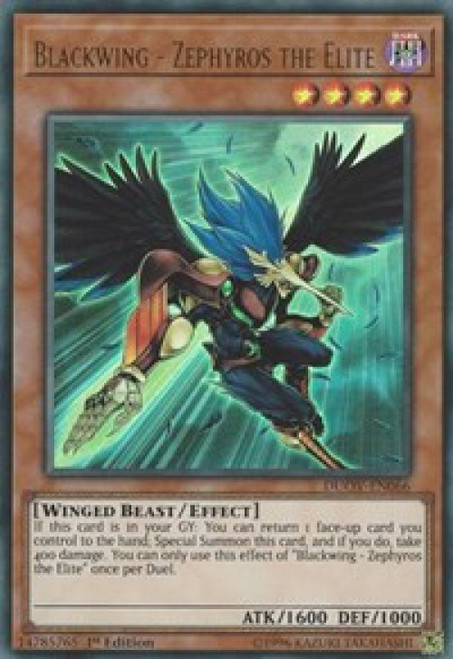 YuGiOh Duel Overload Ultra Rare Blackwing - Zephyros the Elite DUOV-EN066
