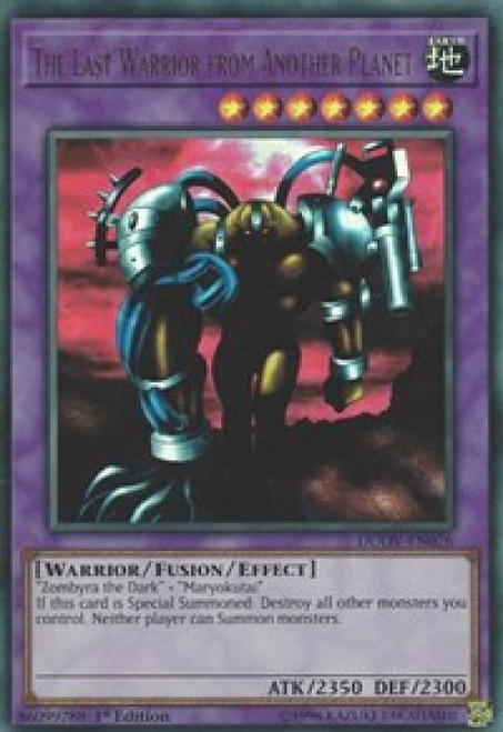 YuGiOh Duel Overload Ultra Rare The Last Warrior from Another Planet DUOV-EN076