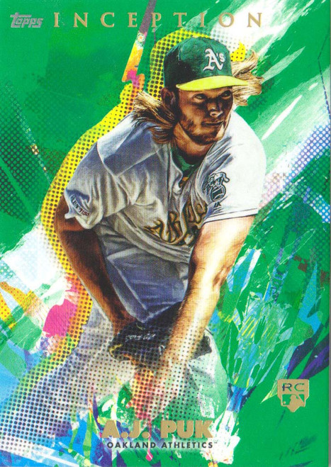 MLB 2020 Topps Inception A.J. Puk Single Sports Card #16 [Green Rookie Card]