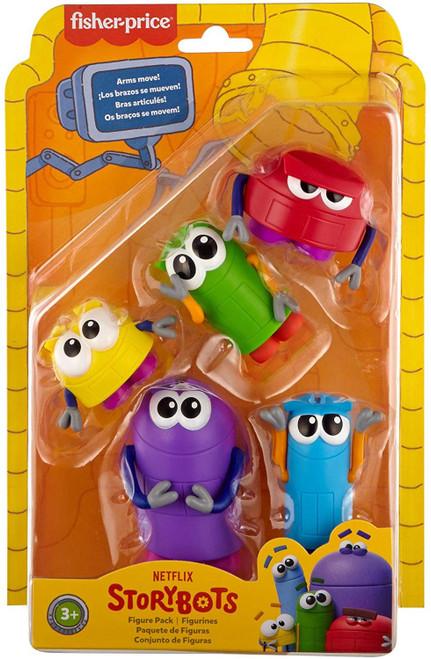 Fisher Price StoryBots Beep, Bang, Bo, Boop & Bing Mini Figure 5-Pack