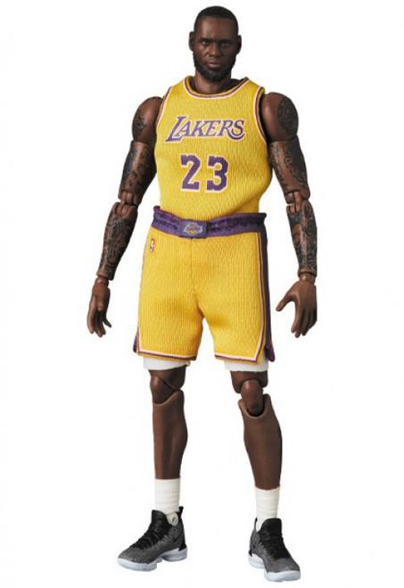 NBA LA Lakers MAFEX Lebron James Action Figure (Pre-Order ships June 2021)