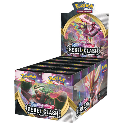 Pokemon Trading Card Game Sword & Shield Rebel Clash Build & Battle DISPLAY Box [10 Units]