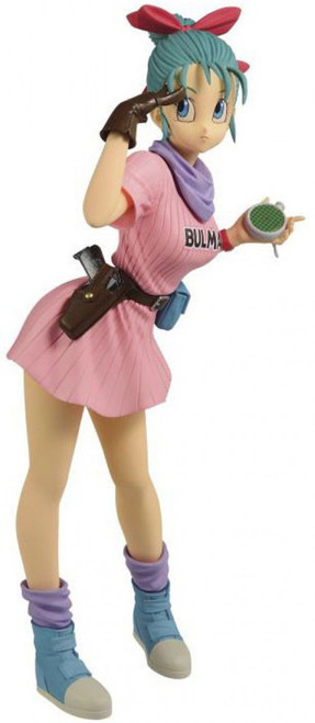 Dragon Ball Glitter & Glamour Bulma 9.8-Inch PVC Figure [Version A, Pink Dress]