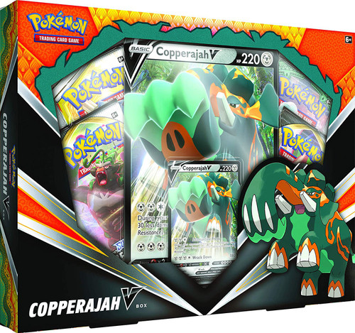 Pokemon Trading Card Game Copperajah V Box [4 Booster Packs, Promo Card & Oversize Card!]