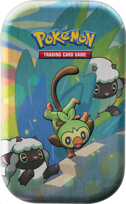 Pokemon Trading Card Game Sword & Shield Galar Pals Grookey & Wooloo Mini Tin [2 Booster Packs & Coin!]