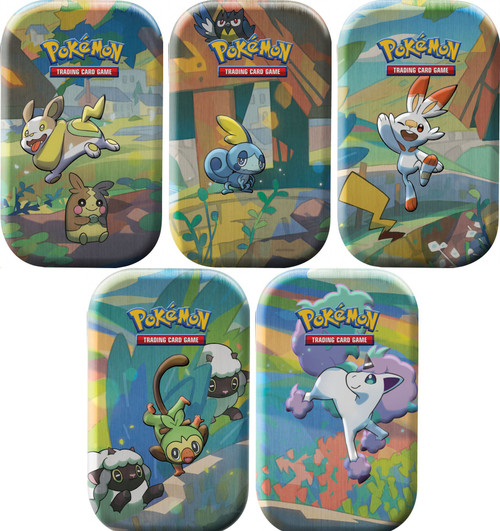Pokemon Trading Card Game Sword & Shield Galar Pals Set of 5 Mini Tin Sets