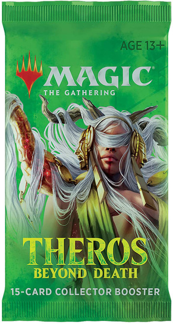 MtG Trading Card Game Theros Beyond Death COLLECTOR Booster Pack [15 Cards]
