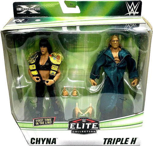 WWE Wrestling Elite Collection Chyna & Triple H Action Figure 2-Pack
