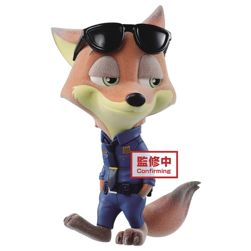Disney Zootopia Fluffy Puffy Nick Wilde 4-Inch Collectible PVC Figure [Police]