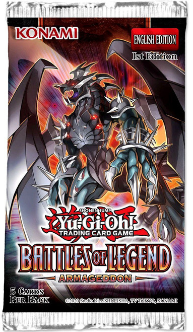YuGiOh Trading Card Game Battles of Legend Armageddon Booster Pack [5 Cards]