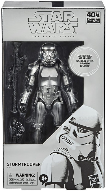 Star Wars The Empire Strikes Back Black Series Stormtrooper Action Figure [Carbonized Graphite, Metallic]