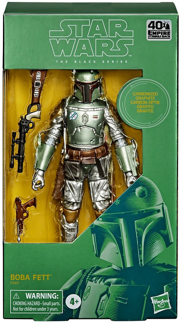 Star Wars Empire Strikes Back Black Series Boba Fett Action Figure [Carbonized Graphite, Metallic] (Pre-Order ships January)