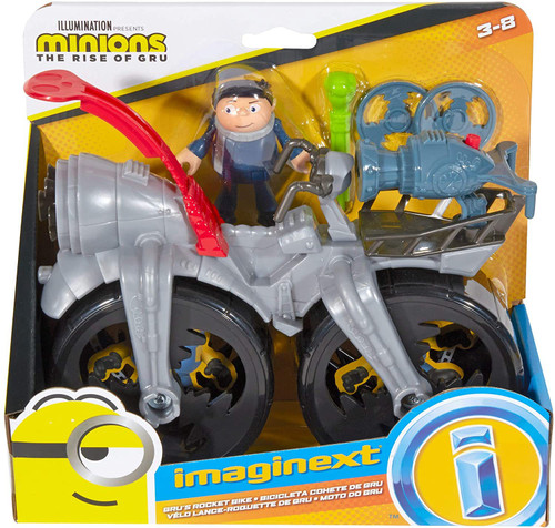 Fisher Price Despicable Me Minions: Rise of Gru Imaginext Gru's Rocket Bike Playset