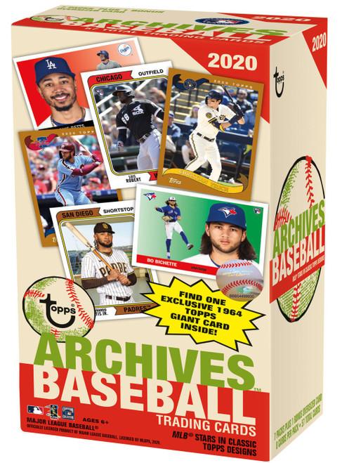 MLB Topps 2020 Archives Baseball Trading Card BLASTER Box [7 Packs + 1 Oversize Bonus Card]