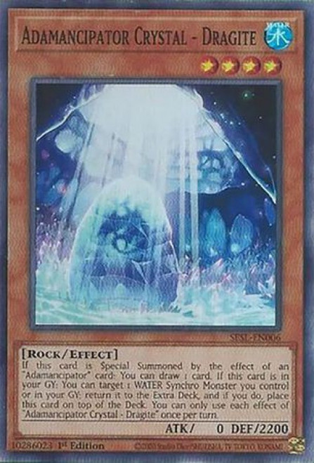 YuGiOh Secret Slayers Super Rare Adamancipator Crystal - Dragite SESL-EN006
