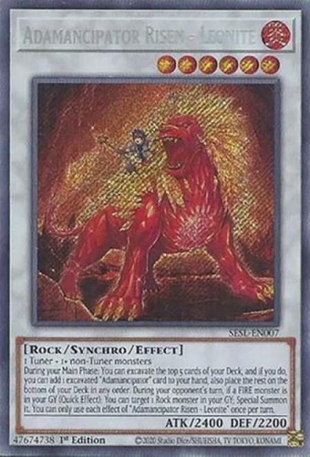 YuGiOh Secret Slayers Secret Rare Adamancipator Risen - Leonite SESL-EN007