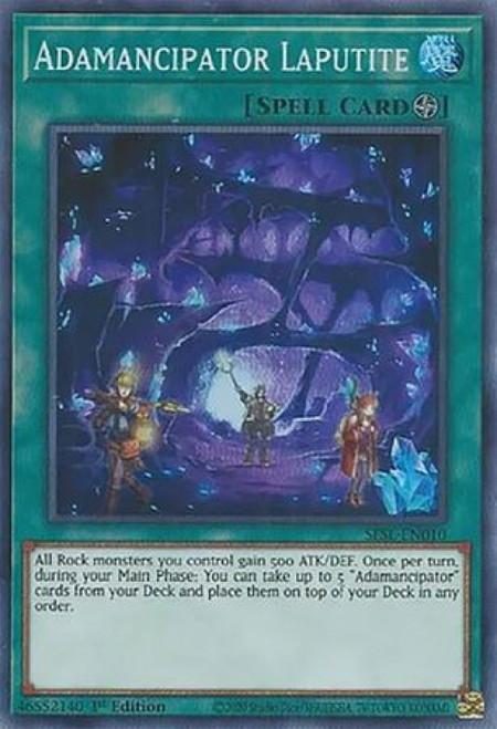 YuGiOh Secret Slayers Super Rare Adamancipator Laputite SESL-EN010