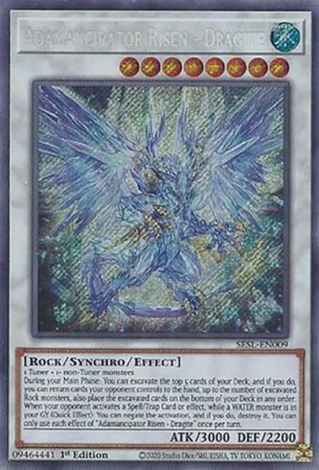 YuGiOh Secret Slayers Secret Rare Adamancipator Risen - Dragite SESL-EN009